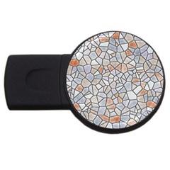 Mosaic Linda 6 Usb Flash Drive Round (2 Gb) by MoreColorsinLife