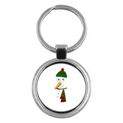 Cute Snowman Key Chains (round)  by Valentinaart