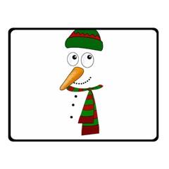 Cute Snowman Fleece Blanket (small) by Valentinaart