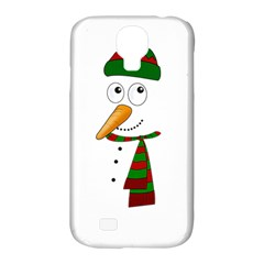 Cute Snowman Samsung Galaxy S4 Classic Hardshell Case (pc+silicone) by Valentinaart