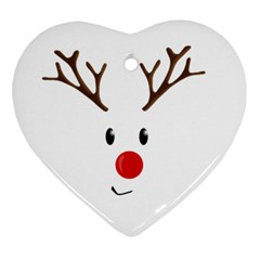 Cute Reindeer  Ornament (heart) by Valentinaart