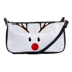 Cute Reindeer  Shoulder Clutch Bags by Valentinaart