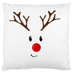 Cute Reindeer  Large Cushion Case (two Sides) by Valentinaart