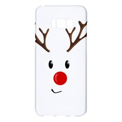 Cute Reindeer  Samsung Galaxy S8 Plus Hardshell Case  by Valentinaart