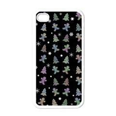 Ginger Cookies Christmas Pattern Apple Iphone 4 Case (white) by Valentinaart