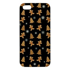 Ginger Cookies Christmas Pattern Apple Iphone 5 Premium Hardshell Case by Valentinaart