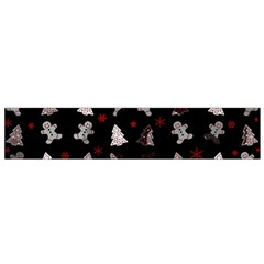 Ginger Cookies Christmas Pattern Flano Scarf (small) by Valentinaart