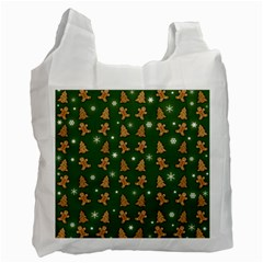 Ginger Cookies Christmas Pattern Recycle Bag (one Side) by Valentinaart