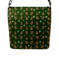 Ginger Cookies Christmas Pattern Flap Messenger Bag (l)  by Valentinaart