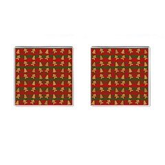 Ginger Cookies Christmas Pattern Cufflinks (square) by Valentinaart