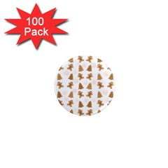 Ginger Cookies Christmas Pattern 1  Mini Magnets (100 Pack)  by Valentinaart