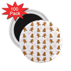 Ginger Cookies Christmas Pattern 2 25  Magnets (100 Pack)  by Valentinaart