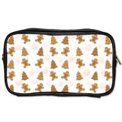 Ginger Cookies Christmas Pattern Toiletries Bags by Valentinaart