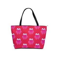 Christmas Red Pattern Reasons Shoulder Handbags by Onesevenart