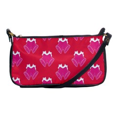 Christmas Red Pattern Reasons Shoulder Clutch Bags by Onesevenart