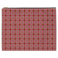 Christmas Paper Wrapping Paper Cosmetic Bag (xxxl)  by Onesevenart