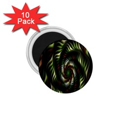 Fractal Christmas Colors Christmas 1 75  Magnets (10 Pack)  by Onesevenart