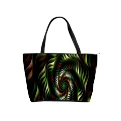 Fractal Christmas Colors Christmas Shoulder Handbags by Onesevenart