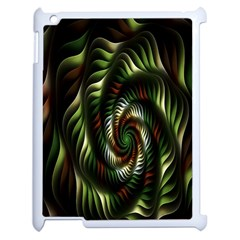 Fractal Christmas Colors Christmas Apple Ipad 2 Case (white) by Onesevenart