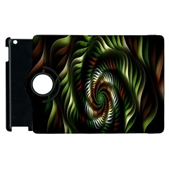 Fractal Christmas Colors Christmas Apple Ipad 2 Flip 360 Case by Onesevenart