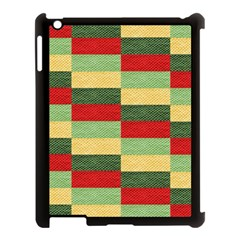 Fabric Coarse Texture Rough Red Apple Ipad 3/4 Case (black) by Onesevenart