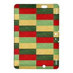Fabric Coarse Texture Rough Red Kindle Fire Hdx 8 9  Hardshell Case by Onesevenart