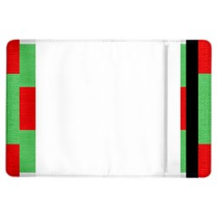 Fabric Christmas Red White Green Ipad Air Flip by Onesevenart