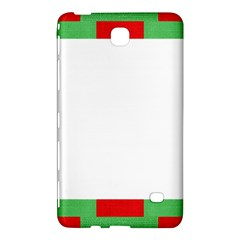 Fabric Christmas Red White Green Samsung Galaxy Tab 4 (8 ) Hardshell Case  by Onesevenart