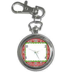 Frame Pattern Christmas Frame Key Chain Watches by Onesevenart