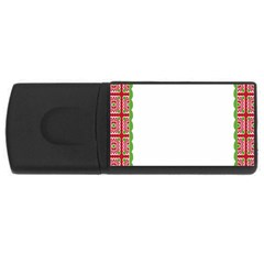Frame Pattern Christmas Frame Rectangular Usb Flash Drive by Onesevenart