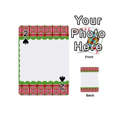 Frame Pattern Christmas Frame Playing Cards 54 (mini)  by Onesevenart