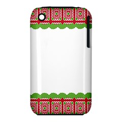 Frame Pattern Christmas Frame Iphone 3s/3gs by Onesevenart