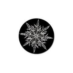 Ice Crystal Ice Form Frost Fabric Golf Ball Marker (4 Pack) by Onesevenart