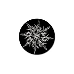 Ice Crystal Ice Form Frost Fabric Golf Ball Marker (10 Pack) by Onesevenart