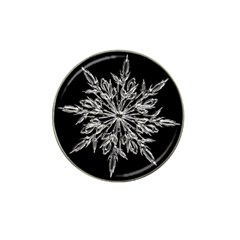 Ice Crystal Ice Form Frost Fabric Hat Clip Ball Marker by Onesevenart
