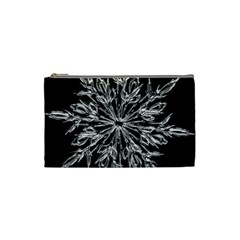 Ice Crystal Ice Form Frost Fabric Cosmetic Bag (small)  by Onesevenart