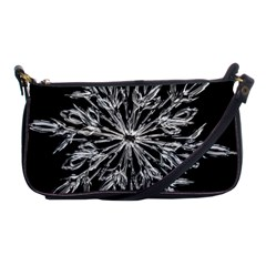 Ice Crystal Ice Form Frost Fabric Shoulder Clutch Bags by Onesevenart