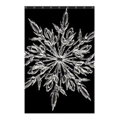 Ice Crystal Ice Form Frost Fabric Shower Curtain 48  X 72  (small)  by Onesevenart
