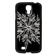Ice Crystal Ice Form Frost Fabric Samsung Galaxy S4 I9500/ I9505 Case (black) by Onesevenart
