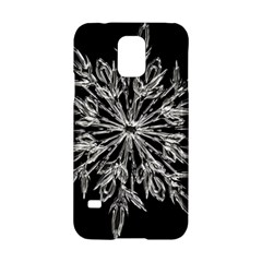 Ice Crystal Ice Form Frost Fabric Samsung Galaxy S5 Hardshell Case  by Onesevenart