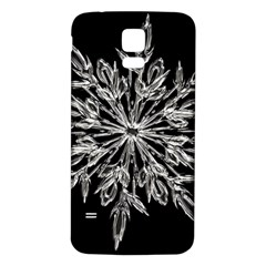Ice Crystal Ice Form Frost Fabric Samsung Galaxy S5 Back Case (white) by Onesevenart