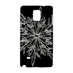 Ice Crystal Ice Form Frost Fabric Samsung Galaxy Note 4 Hardshell Case by Onesevenart