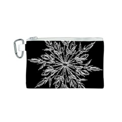 Ice Crystal Ice Form Frost Fabric Canvas Cosmetic Bag (s) by Onesevenart