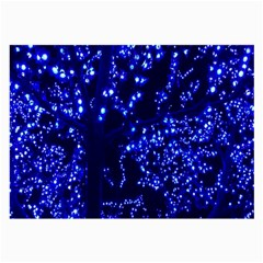 Lights Blue Tree Night Glow Large Glasses Cloth (2 Side) by Onesevenart