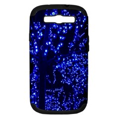 Lights Blue Tree Night Glow Samsung Galaxy S Iii Hardshell Case (pc+silicone) by Onesevenart