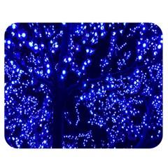Lights Blue Tree Night Glow Double Sided Flano Blanket (medium)  by Onesevenart