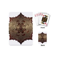 Jewelry Jewel Gem Gemstone Shine Playing Cards (mini)  by Onesevenart