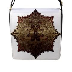 Jewelry Jewel Gem Gemstone Shine Flap Messenger Bag (l)  by Onesevenart