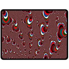 Mandelbrot Fractal Mathematics Art Fleece Blanket (large)  by Onesevenart