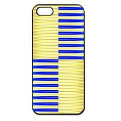 Metallic Gold Texture Apple Iphone 5 Seamless Case (black) by Onesevenart